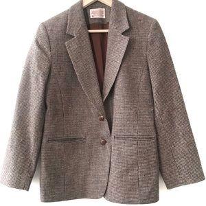 Vintage Pendleton Houndstooth Blazer Size 8